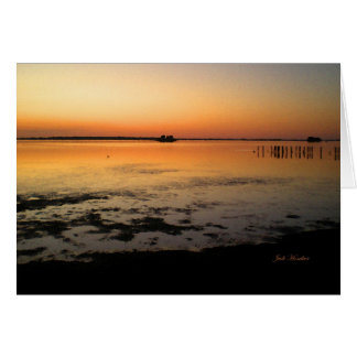 """Like An Unlit Candle"" Sunset Along Edgewater Greeting Card"