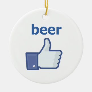 LIKE beer Round Ceramic Decoration