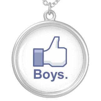 Like Boys Round Pendant Necklace