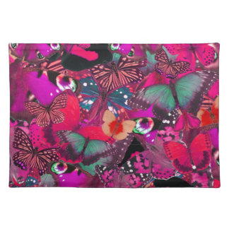 Like Butter, Shocking Pink Butterfly Pattern. PJ Placemat