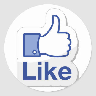 Like Button (Like Me) Classic Round Sticker