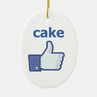LIKE cake Ceramic Oval Decoration