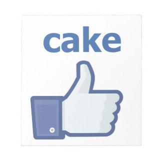 LIKE cake Notepad