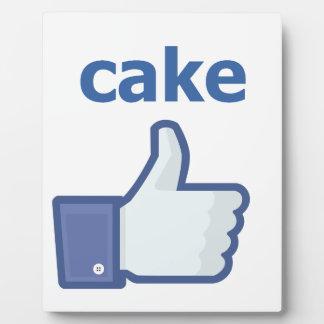 LIKE cake Plaque