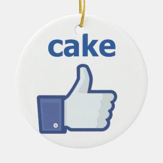 LIKE cake Round Ceramic Decoration