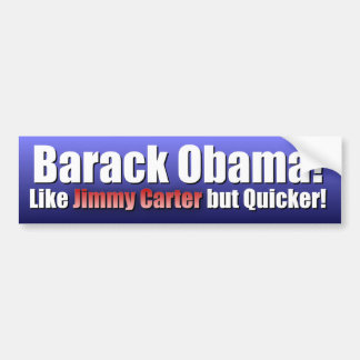 Like Carter but Quicker Bumper Sticker