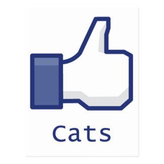 Like Cats Postcard