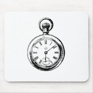 Like Clockwork Pocket Watch Illustration Mousepad