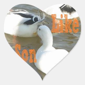 Like Father Like Son. Heart Sticker