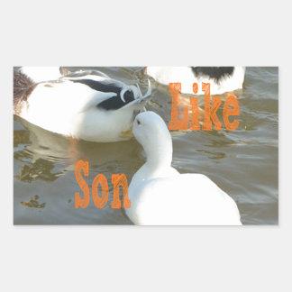 Like Father Like Son. Rectangular Sticker