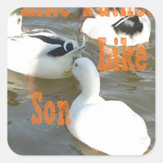 Like Father Like Son. Square Sticker