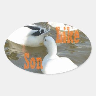 Like Father Like Son. Oval Stickers
