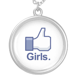 Like Girls Round Pendant Necklace