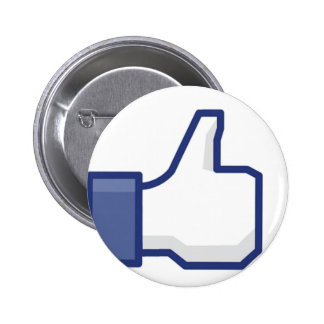 Like Hand - FB Thumbs Up 6 Cm Round Badge