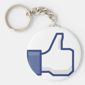 Like Hand - FB Thumbs Up Basic Round Button Key Ring