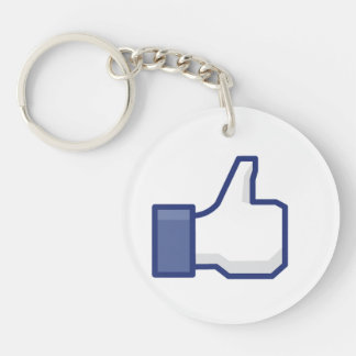 Like Hand - FB Thumbs Up Round Acrylic Key Chain