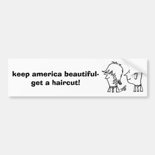 like his, love, keep america beautiful-get a ha... bumper sticker
