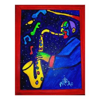 Like Jazz Man by Piliero 21.5 Cm X 28 Cm Flyer