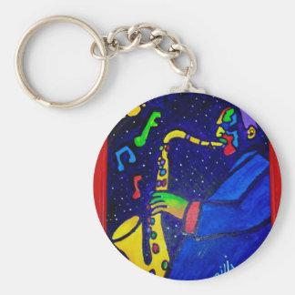 Like Jazz Man by Piliero Key Ring