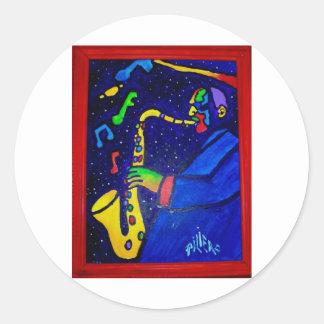 Like Jazz Man by Piliero Round Stickers