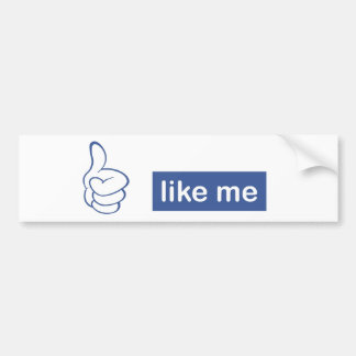 like me - thumbs up car bumper sticker