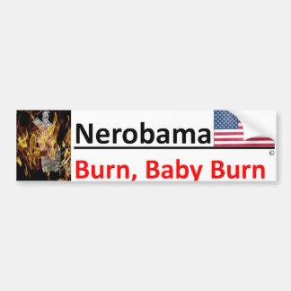 Like Nero, Obama is fiddling/golfing as US burns Bumper Sticker