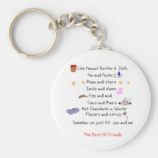 Like Peanut Butter and Jelly Keychain