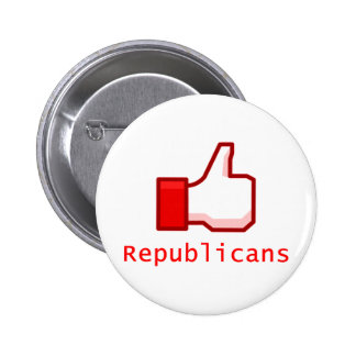 Like Republicans 6 Cm Round Badge
