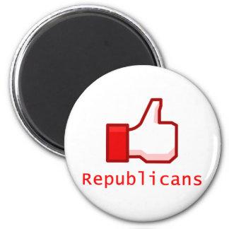 Like Republicans 6 Cm Round Magnet
