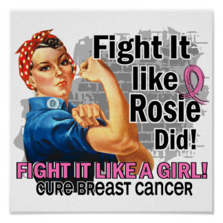 Like Rosie Did Cure Breast Cancer png Posters
