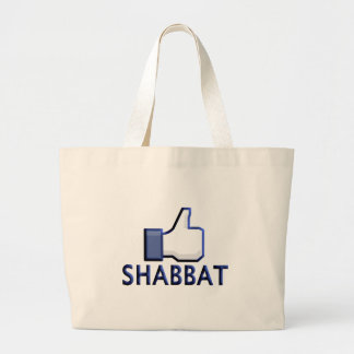 Like Shabbat Large Tote Bag