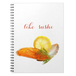 like sushi spiral notebook