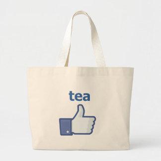 LIKE tea Large Tote Bag