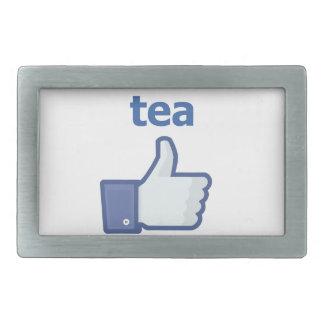 LIKE tea Rectangular Belt Buckles