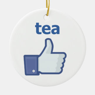 LIKE tea Round Ceramic Decoration