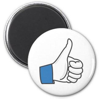 Like Thumb Up Fun 6 Cm Round Magnet