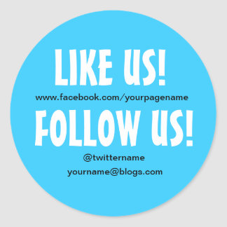 Like us Follow us custom Social Media sticker