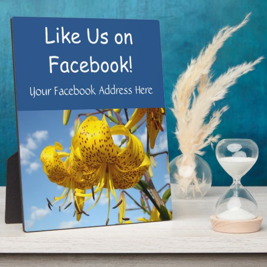 Like Us on Facebook Counter Retail Service Signs