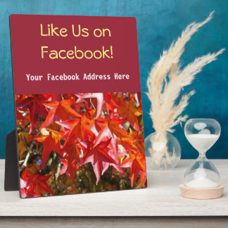 Like Us On Facebook counter Sign Plaque Autumn
