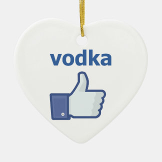 LIKE vodka Ceramic Heart Decoration