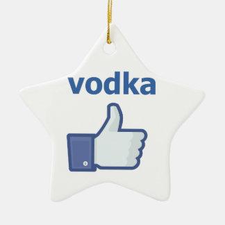 LIKE vodka Ceramic Star Decoration