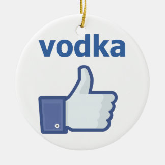 LIKE vodka Round Ceramic Decoration