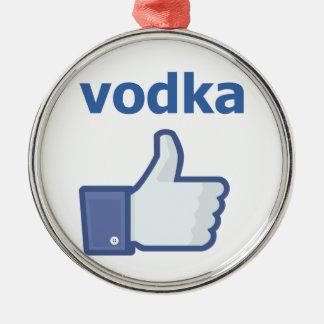LIKE vodka Silver-Colored Round Decoration