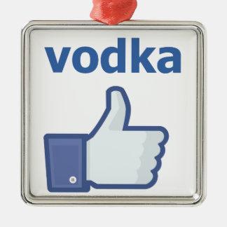 LIKE vodka Silver-Colored Square Decoration