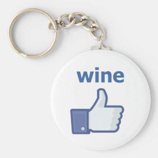 LIKE wine Basic Round Button Key Ring