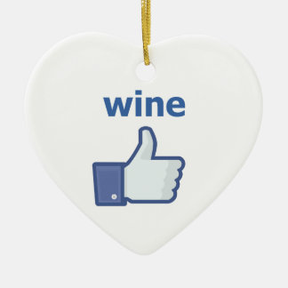 LIKE wine Ceramic Heart Decoration