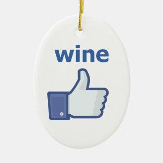 LIKE wine Ceramic Oval Decoration