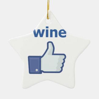 LIKE wine Ceramic Star Decoration