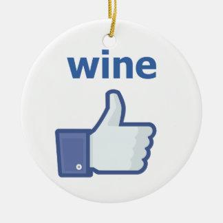 LIKE wine Christmas Ornament