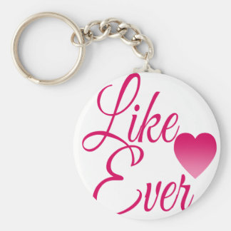 LikeEver.png Basic Round Button Key Ring